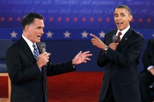 Romney debates Obama at Town Hall